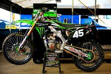 NSTYLE MONSTER TEAM PRO CIRCUIT KX450F GRAPHICS KIT 2009 2010 2011 w/ white BG`s