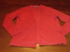 IN Cashmere BRAND 100% CASHMERE SWEATER cardigan red FLAME Color WMNS L 12 14 16