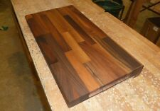 large wooden Walnut chopping board with counter edge from Gardenlarch