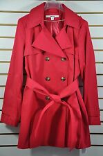 NWT Women's DKNY Hooded Double-Breasted Trench Coat. Size. PL(Petite Size)