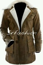 Bane The Dark Knight Rises BANE COAT RUB OFF Genuine Leather Trench Coat/jacket