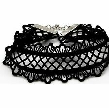 Fashion Handmade Charm Crochet Lace Heart Choker Necklace Collar Gothic Jewelry