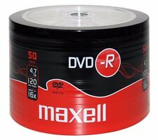 50 Maxell DVD-R RECORDABLE 16x Speed Blank Discs 4.7GB