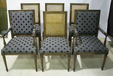 "Scarce Set of 6 Vintage Kindel Furniture ""Beauclair"" Louis XVI Dining Chairs"