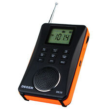 Degen DE26  FM Stereo Digital Audio MP3 Card FM/MW/SW Full-band radio +USB line