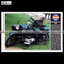 #TP Fiche Moto RENE GILLET 750 1926 (SIDE-CAR / Classic Motorcycle)
