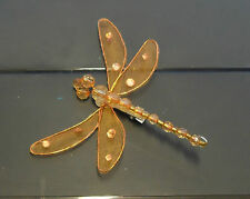 9cm Dragonfly Diamante Decoration Mesh Wings And Clip - Colourful Dragonflies