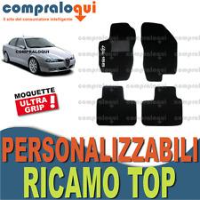 TAPPETINI PER ALFA ROMEO 156 TAPPETI AUTO SU MISURA + LOGO TOP RICAMATO A SCELTA