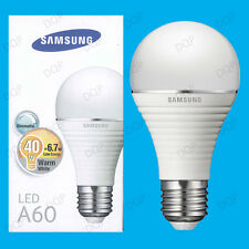 3x 6.7W Samsung GLS Dimmable Ultra Low Energy LED Light Bulbs, ES E27 Lamps