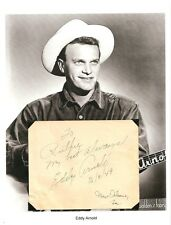 Eddy Arnold Autograph Grand Ole Opry That's How Much I Love You Eddy Arnold Show