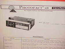 1973 AUTOMATIC CAR 8-TRACK STEREO TAPE PLAYER SERVICE MANUAL MODEL QME-2445A