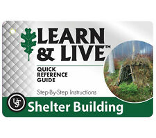 UST Learn and Live Shelter Building Cards Pocket How-To Guide with Photos