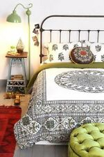 NEW Twin Urban Outfitters Bedding Magical Thinking Green Medallion Duvet Cover