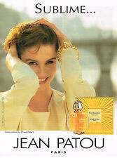 PUBLICITE ADVERTISING 074  1998  SUBLIME   parfum JEAN PATOU