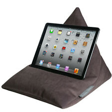 IPad Tablet Ereader Kindle TELEFONO pouf a sacco cuscino Stand Made in UK VELLUTO MARRONE