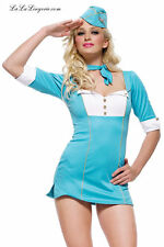 Halloween Costume Flight Attendant Women Stewardess