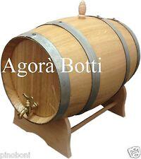Botte in ROVERE 15 litri con rubinetto di ottone, legno nuovo di spacco