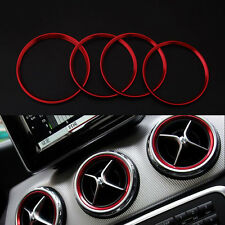 5x Air Condition AC Vent Outlet Ring Cover For Benz A/B Class CLA GLA180 GLA200