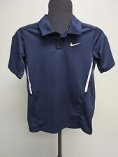 NIKE TENNIS POLO SHIRT DRI-FIT NAVY BLUE BOYS SIZE L