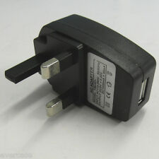 Universal Wall / Main to USB adaptor. AC 110-240V to 5V 1A. UK type..Ref 738 IC