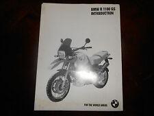 BMW OEM 1994 Dealer Introduction R1100 GS Brochure Accessories Parts List