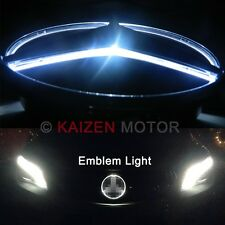 White LED Illuminated Star Kit For Mercedes Center Grille Emblem Badge A C CLS E