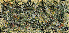 Number 8 1949 by Jackson Pollock Abstract Lines Warm Colors Print Poster 50x30
