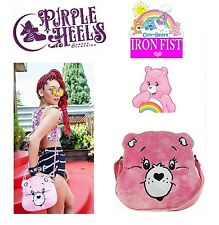 Iron Fist Care Bears Stare Cheer Bear Plush Pink Cross Body Bag