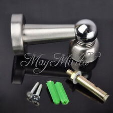 New Stainless Steel Magnetic Door Stop Stopper Holder Catch & Fitting Screws S