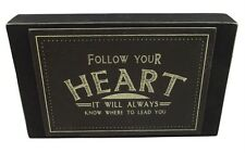 East of India Follow Your Heart Word Block -  Gift for Friend Women Xmas Present