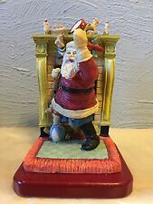 Santa Claus by fireplace Christmas 1992 Kurt Adler Limited Edition