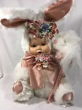 Vintage 17 inch porcelain bunny doll by ABC distributing