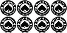 Motorhead circular vinyl stickers 8 x 40mm diameter Lemmy Born To Lose guitar