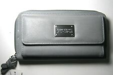 $50 New Kenneth Cole Reaction Women's Urban Organizer Wallet - Gray Clutch