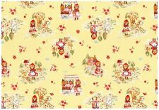 Lecien Little Heroines Little Red Riding Hood In Yellow Half Yard Fabric