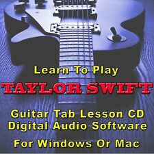 TAYLOR SWIFT Guitar Tab Lesson CD Software - 29 Songs