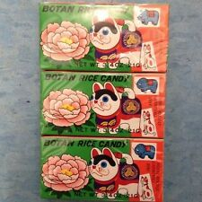 Botan Rice Candy 3 PACK With the Edible Wrapper with Sticker FAST SHIPPING