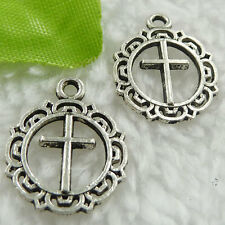 Free Ship 400 pieces tibet silver cross charms 20x16mm #378
