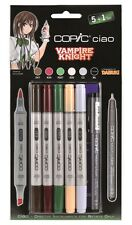 COPIC CIAO MARKER - 6 PEN SET - VAMPIRE KNIGHT SET - TWIN TIPPED