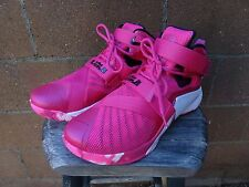 NIKE LeBron Soldier 9 IX Mens Basketball Size 9.5 749417-601 Pink Breast Cancer