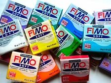 Fimo Oven Bake Clay Starter set 6 x 56g Blocks in assorted Colours