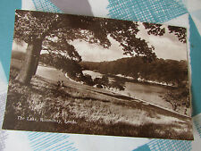 The Lake  Roundhay  LEEDS  Real Photo  Postcard  Post Mark  dated 1937