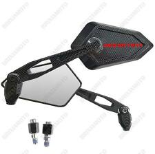 MIRRORS MIRROR STREET CARBON LOOK RED LOGO DUCATI MONSTER 695 696 796 1100