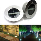 3 LED Solar Powered Underground Buried Light Lamp Yard Road Garden Decking Light