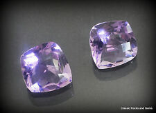 Faceted Lilac amatista calibrada pair Edelstein amatista par ametista