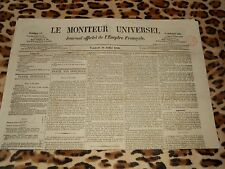 LE MONITEUR UNIVERSEL, journal officiel de l'empire français, n° 197, 16/07/1858