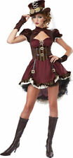NWT California Costumes Women's Steampunk Girl Costume Burgundy/Brown Medium New