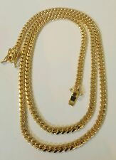 "Handmade 14K Solid Gold Miami Cuban Link Chain, 24"" 4.10 MM 30 Grams"