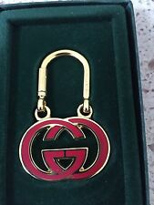 Gucci Red Enamel Purse Pendent, Key Fob New In Box 1970's Excellent OPENS!