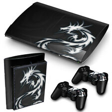 Ps3 Superslim Playstation 3 Skin Pegatinas Pvc Para Consola Y 2 Almohadillas Dragón Tribal